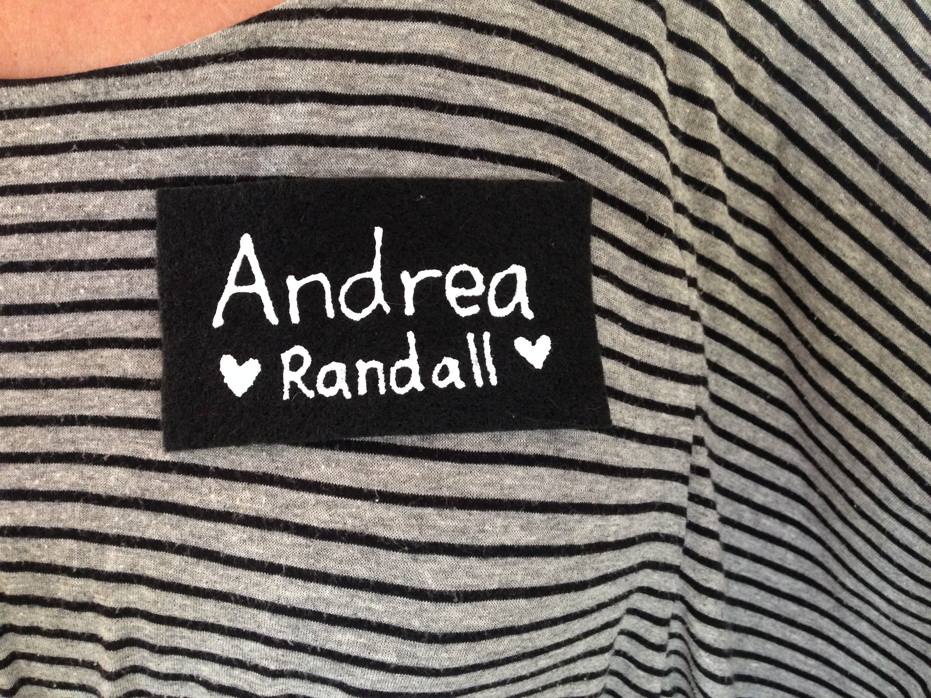 Shirt design near me - This Year I Made A Felt Name Tag After A Dad Who Knows About My Near O Ways Called Me Out For Using A Sticker It Clings To My Shirt If The Material S