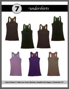 wardrobe undershirts